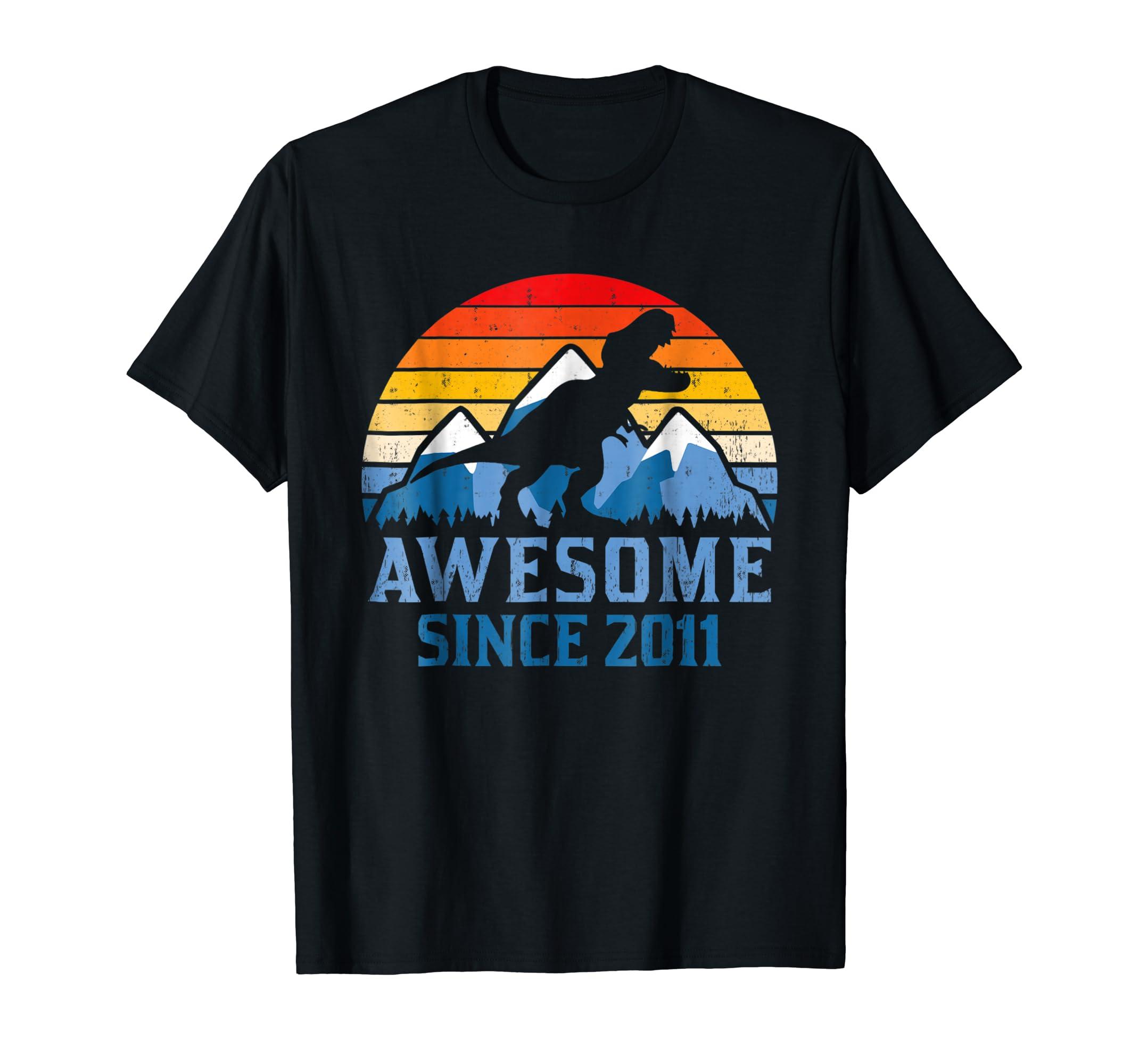 7th Birthday Gift Shirt Dinosaur 7 Year Old Tshirt For Boy Teechatpro