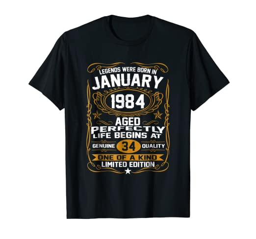 January 1984 35th Birthday Gift 35 Year Old For Men Women