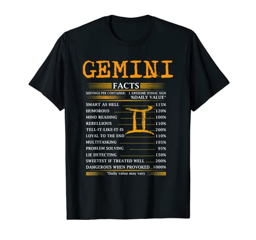 Amazon com: I'm a Gemini T Shirt Birthday Gift Tee Shirt For