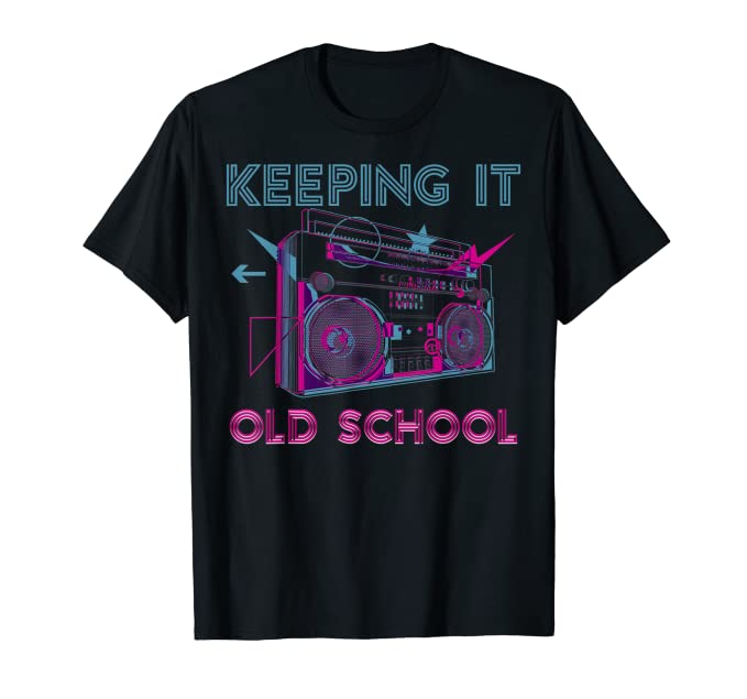 Keeping it Old School 80s Boombox T-shirt for Adults