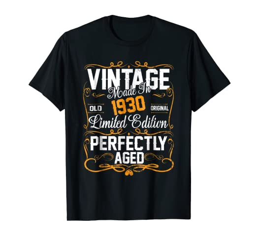 Image Unavailable Not Available For Color 88th Birthday Gift Shirt Vintage Dude 1930 88 Year Old