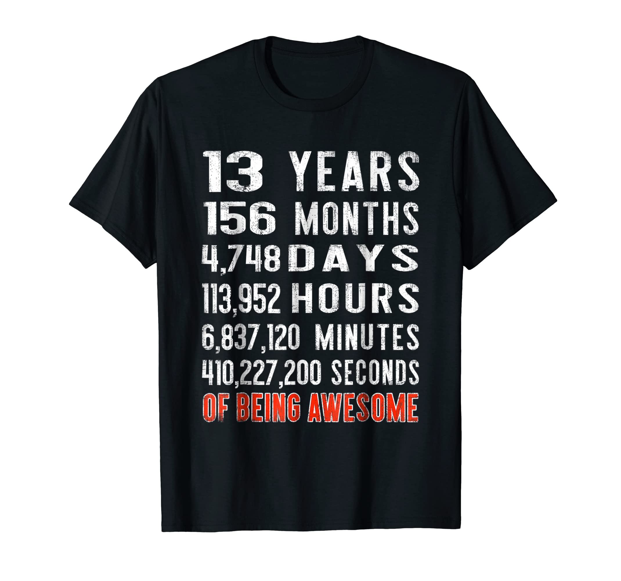 Amazon 13th Birthday Gift 13 Years Old Of Being Awesome 2005 TShirt Clothing
