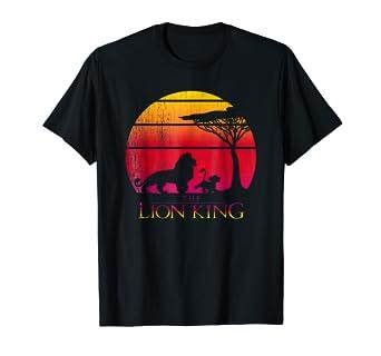 0c7674c6 Amazon.com: Disney Lion King Vintage Sunset Logo Graphic T-Shirt: Clothing