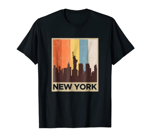 3a1f1f78f Image Unavailable. Image not available for. Color: New York City Skyline Shirt  Vintage Retro 70's NYC Graphic