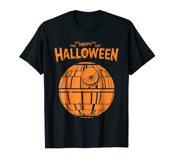 f69a349a Image Unavailable. Image not available for. Color: Star Wars Death Star  Happy Halloween Graphic T-Shirt