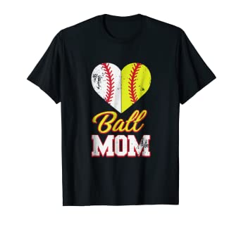 a86678b71 Image Unavailable. Image not available for. Color: Funny Softball Mom T-Shirt  Ball ...