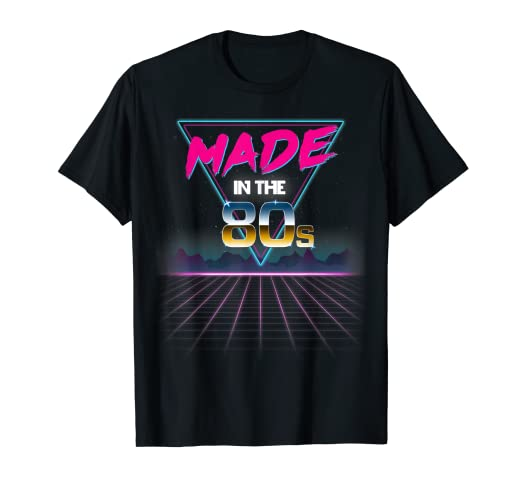6ddb34423d102 Made In The 80s Retro Neon Grid Graphic T-Shirt