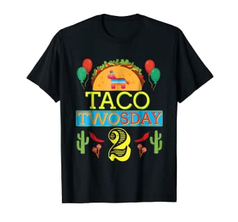 Image Unavailable Not Available For Color Taco Twosday Birthday Shirt 2 Two Year Old