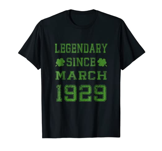Image Unavailable Not Available For Color Legendary Since March 1929 90th Birthday Party Idea T Shirt