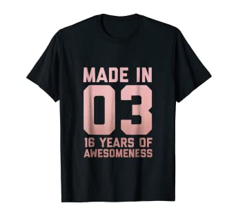 Image Unavailable Not Available For Color 16th Birthday Shirt Gift Age 16 Girl Sixteen Year Old Niece