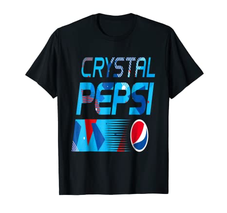 4876a6717f9 Image Unavailable. Image not available for. Color  Crystal Pepsi Cola  Vintage Brands Soft Drinks T Shirt