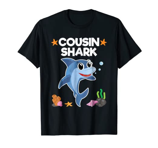 Image Unavailable Not Available For Color Cousin Shark Shirt Sister Brother Baby Birthday Gift