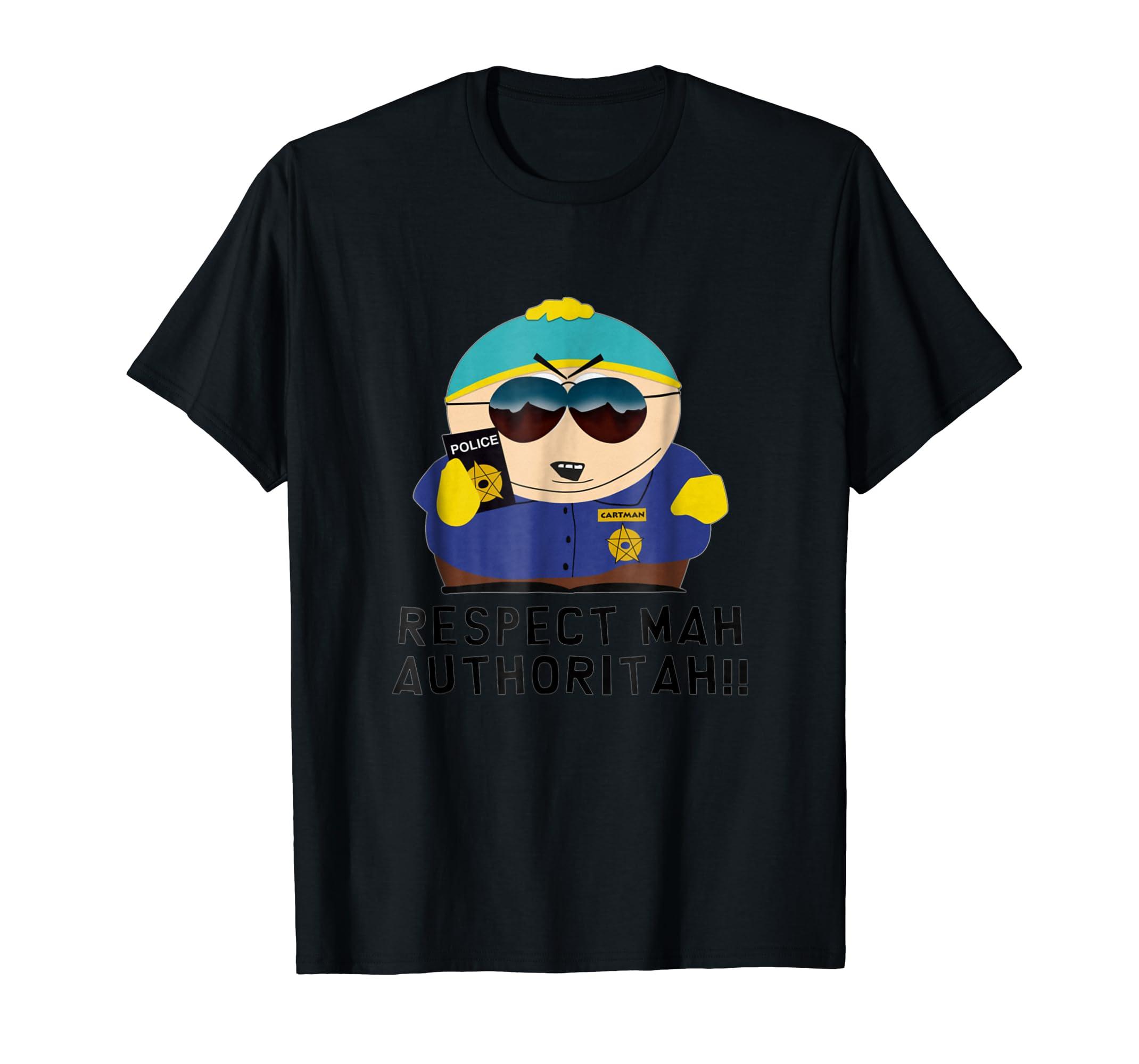 Cartman RESPECT MAH AUTHORITAH shirt-Men's T-Shirt-Black