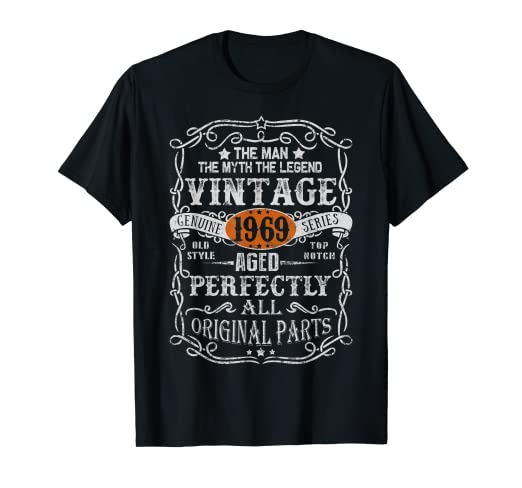 Amazon 50 Years Old 1969 Vintage 50th Bday Gift Shirt