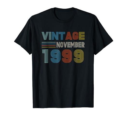 Amazoncom November 1999 Retro Vintage 19th Birthday Tshirt