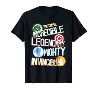 d1067202 Image Unavailable. Image not available for. Color: Marvel Avengers Father's  Day Dad Words Graphic T-Shirt
