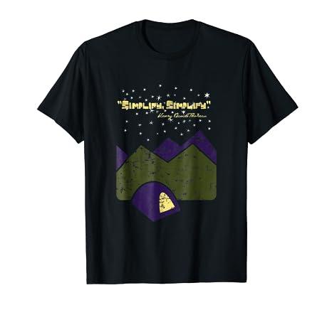 Amazoncom Simplifysimplify Henry David Thoreau Quote Clothing