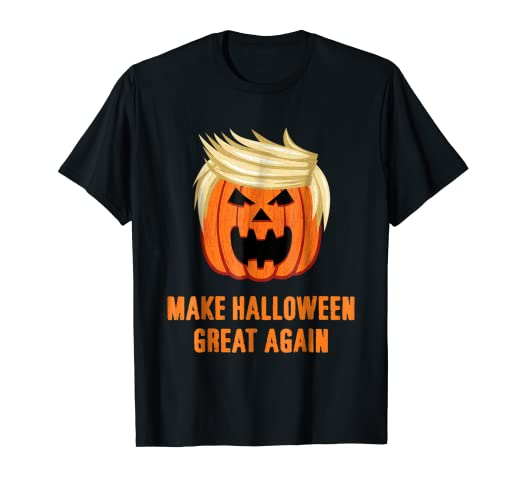 04fa40d2b Image Unavailable. Image not available for. Color: Make Halloween Great  Again Funny Trumpkin T-Shirt