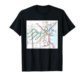 Boston T Subway Map.Amazon Com Boston Subway Map United States T Shirt Clothing