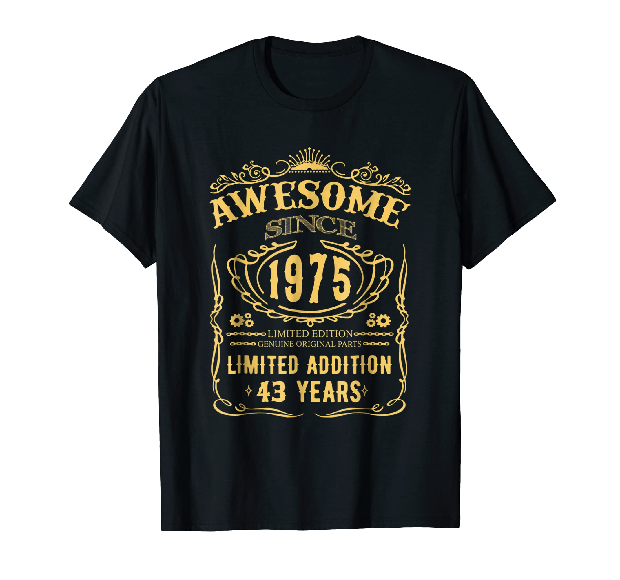 43th Birthday Shirt Happy Thirty Years Old 1975 Gift-fa
