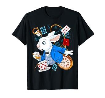c0cc3e5af28d Amazon.com: Alice in Wonderland T-Shirt - White Rabbit Tee: Clothing