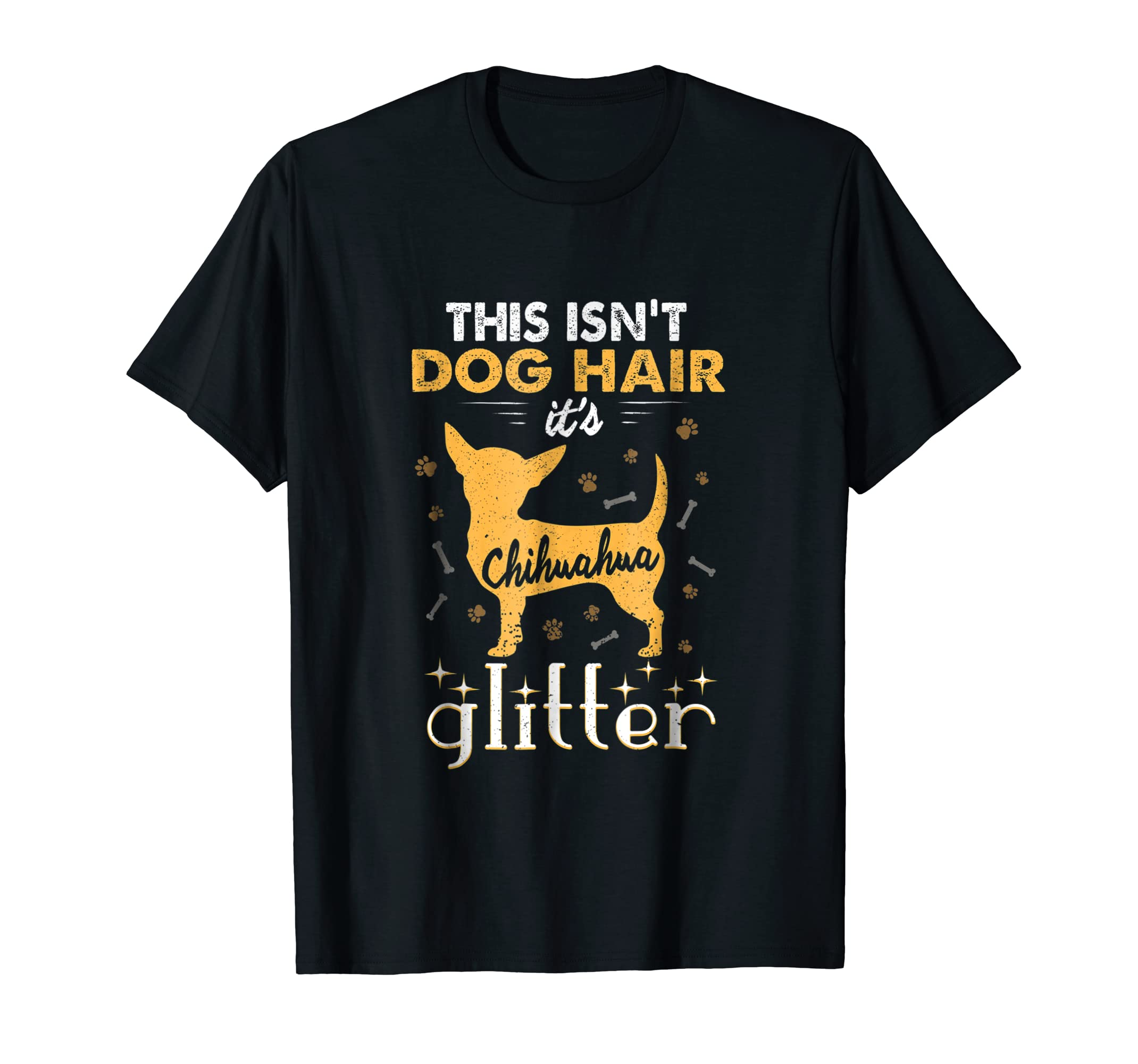This Isn't Dog Hair It's Chihuahua Glitter Funny T-Shirt-Men's T-Shirt-Black