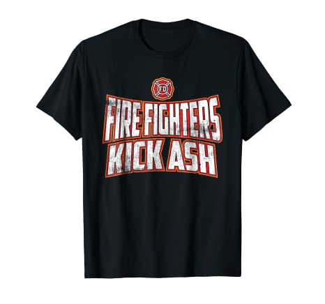 fd6b3ddef7 Image Unavailable. Image not available for. Color: Funny Vintage Firefighters  Kick Ash Designer Fireman T-shirt