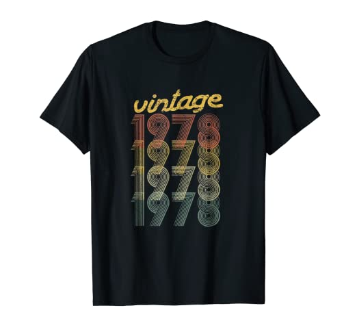 Image Unavailable Not Available For Color 1978 Vintage 40th Birthday Gift T Shirt Him