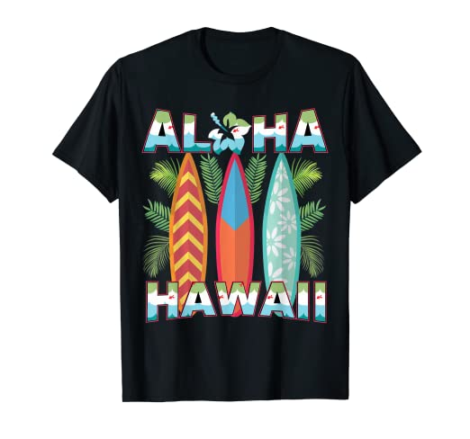 f0329310 Amazon.com: Artsy Hawaii Aloha State T-Shirt Summer Hawaiian Islands ...