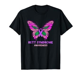 amazon com rett syndrome awareness purple ribbon t shirt clothing