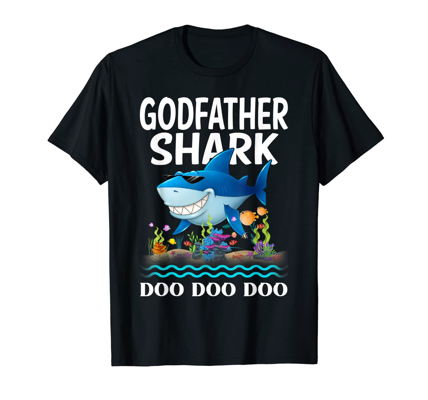 Godfather Shark Fathers Day Gift From Wife Son Shirts