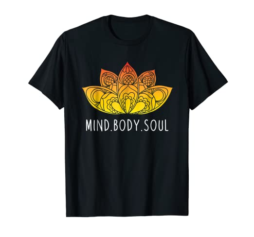 Amazon.com: Yoga Shirt Mind Body Soul Tees Meditation Women ...