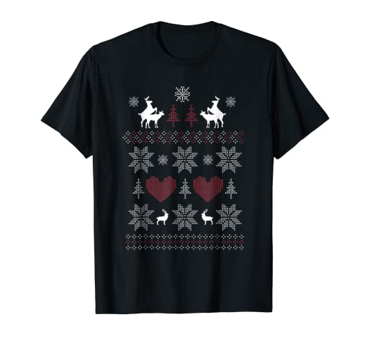 f8dd2f14d Image Unavailable. Image not available for. Color: Ugly Christmas Sweater -  Santa Reindeers Humping Funny Rude. Roll over image to ...