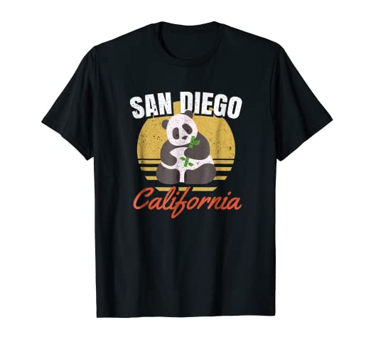 4e411ae93 Image Unavailable. Image not available for. Color: San Diego Shirt-Retro  Panda Zoo-California State T Shirt