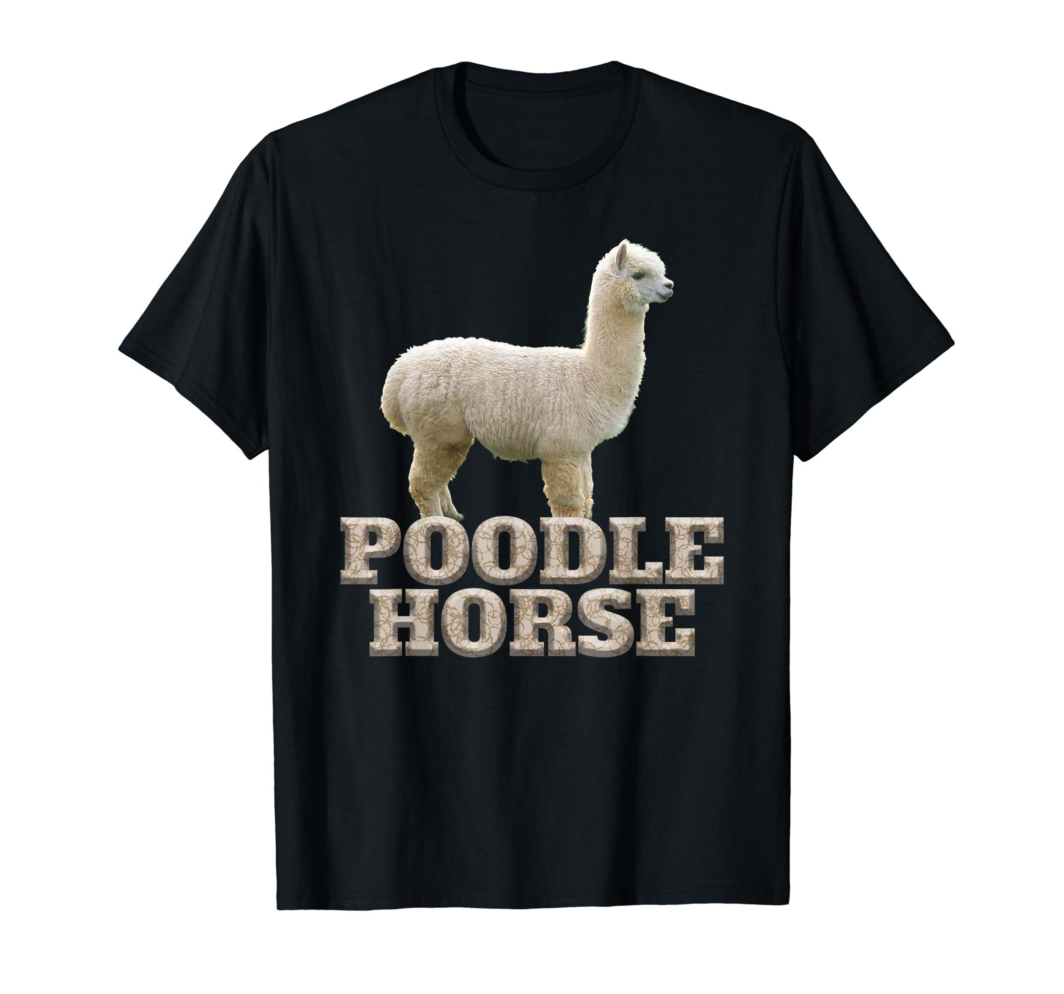 Hilarious Alpaca Poodle Horse Llama Shirt-Men's T-Shirt-Black