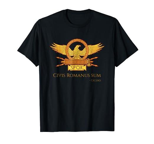 Amazon Ancient Rome Cicero Latin Quote Shirt Civis Romanus Sum