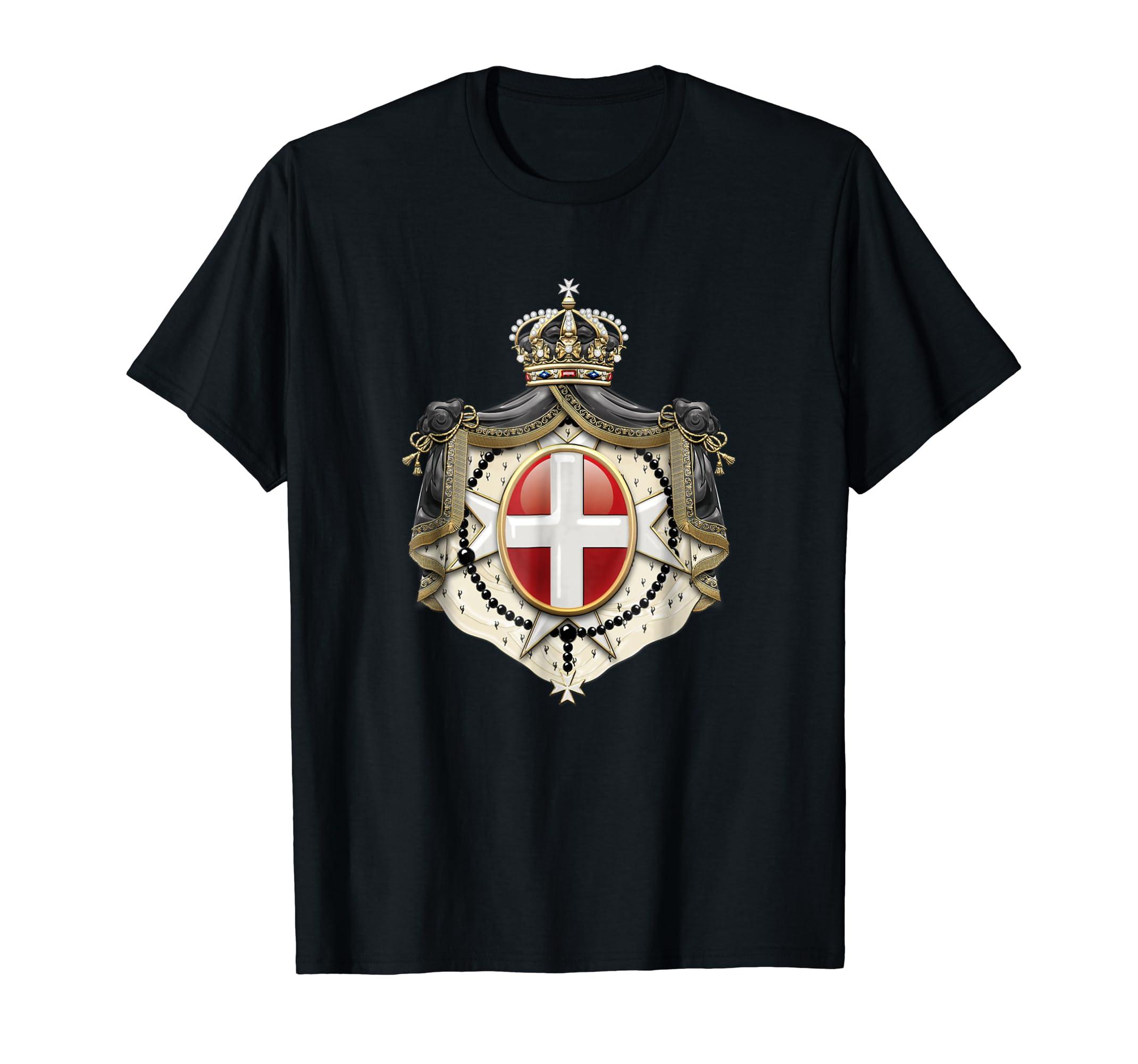acdee88b Amazon.com: Dot7Art: Order of Malta Coat of Arms T-shirt: Clothing