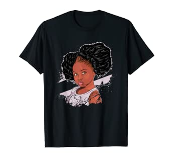 dcc5e41c Image Unavailable. Image not available for. Color: Afro Puffs Black Girl  Magic Little Girl Kids Daughter Shirt