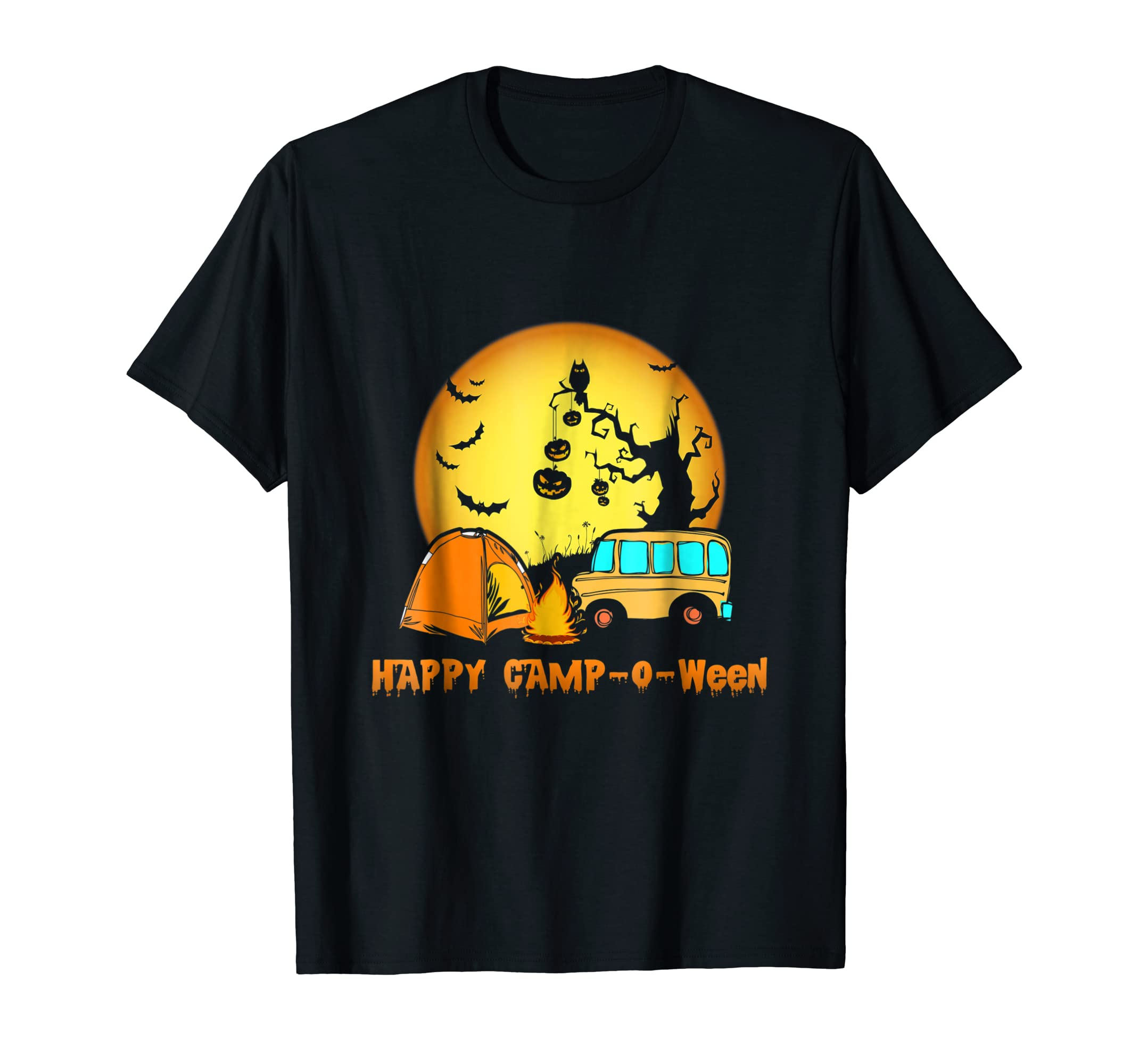 Happy Camp-O-Ween Camping Halloween T-Shirt Gift For Men-SFL