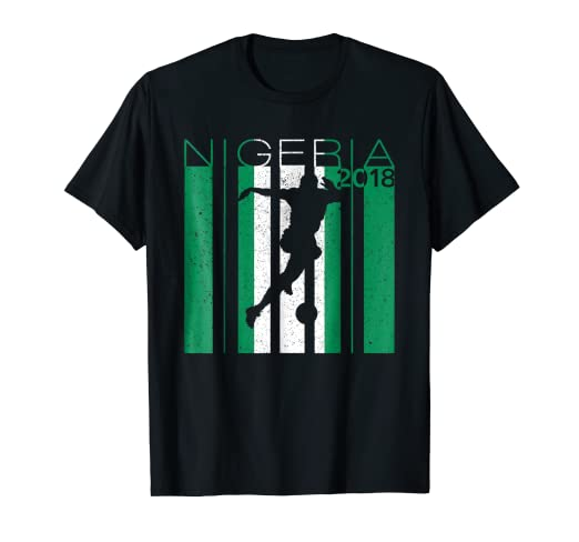 Image Unavailable. Image not available for. Color  Nigeria Football 2018  Jersey Nigerian Soccer T-Shirt 7837e7ba4