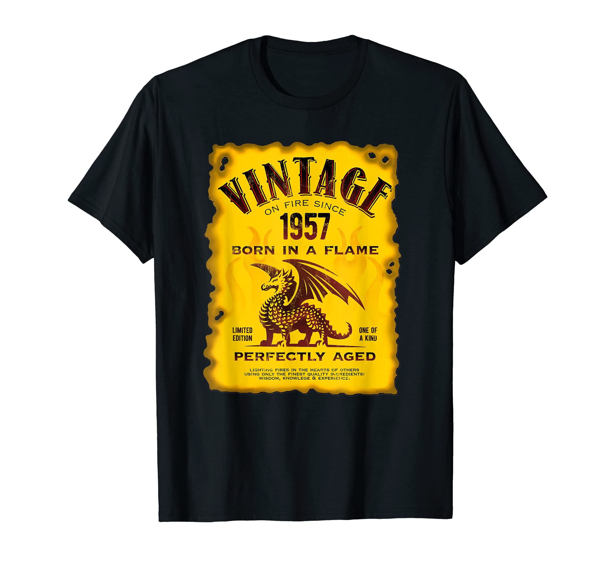 0d2e1f88 Amazon.com: Vintage Made In 1957 Vintage 62nd Birthday T-Shirt Est. 1957:  Clothing