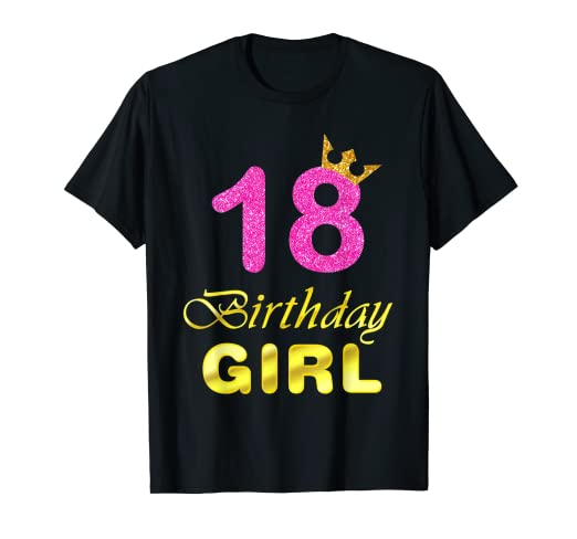 Image Unavailable Not Available For Color Gift 18 Years Old Shirt 18th Golden Birthday Girl