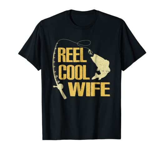 Image Unavailable. Image not available for. Color  Funny Reel Cool Wife  Shirt Fishing Father Day Gift For Women 652714e95