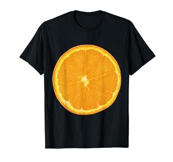 fbdccc6a9 Amazon.com: Giant Orange Slice Fruit T-Shirt Fun Foodie Vegan Summer ...