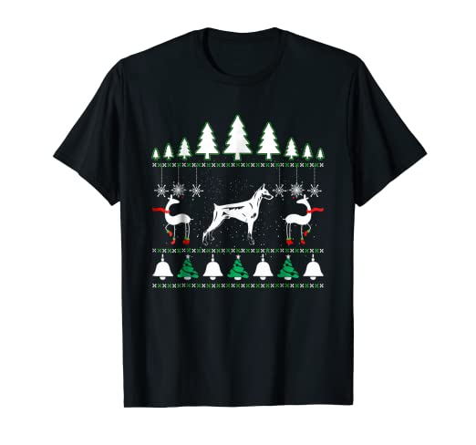 Amazoncom A Super Cool Doberman Pinscher Ugly Christmas Sweater