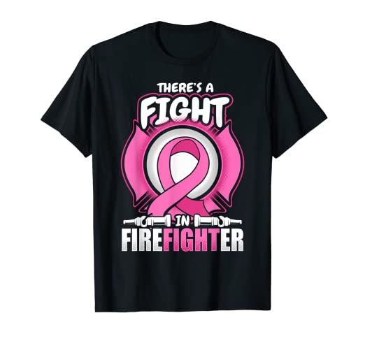 79b886c8dd8d Image Unavailable. Image not available for. Color: Firefighter Breast Cancer  T Shirt Awareness ...