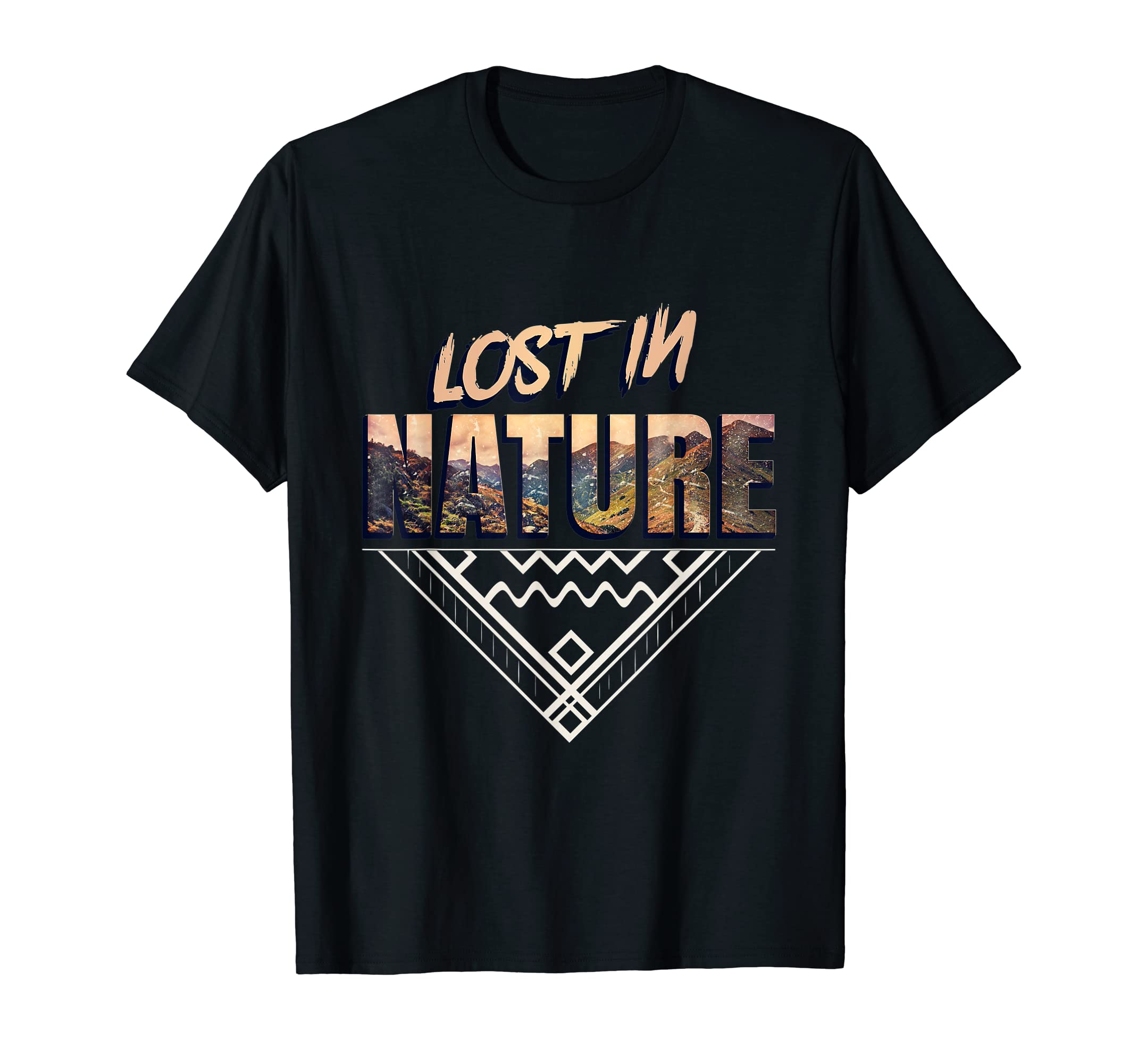 c509bd63 Amazon.com: Lost In Nature Funny Camping Outdoor T Shirt Explorers Gift:  Clothing