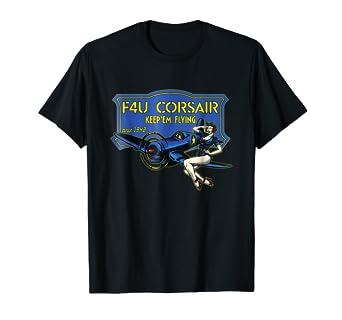 F4U Corsair WW2 Plane Pinup Girl Warbird Airshow Shirt