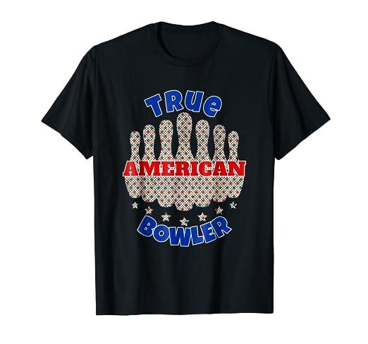 b244f9f2 Amazon.com: True American Bowler USA Bowling Bowler Team T-shirt ...