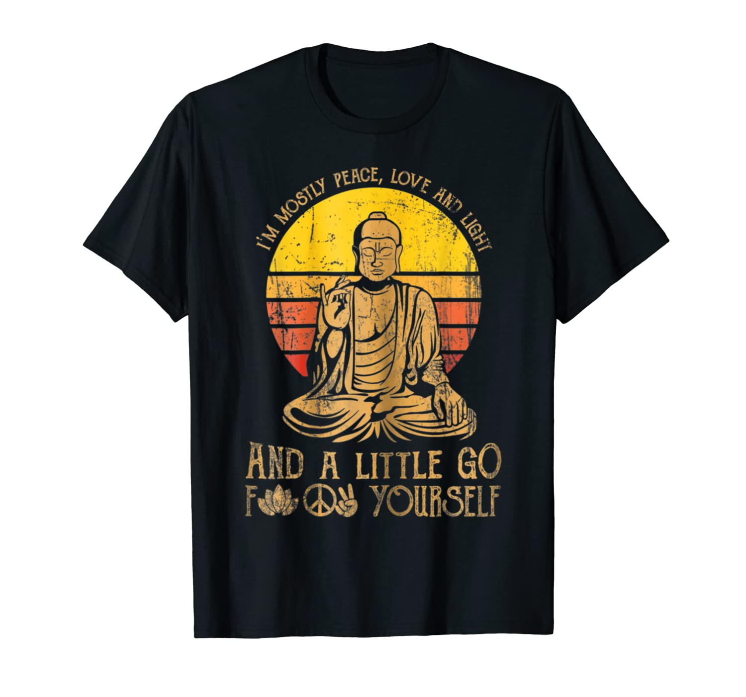 97cf398b806d9 I'm Mostly Peace Love And Light And A Little Yoga T Shirt